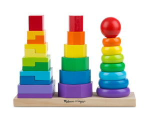 Wooden Geometric Stacker - Melissa & Doug