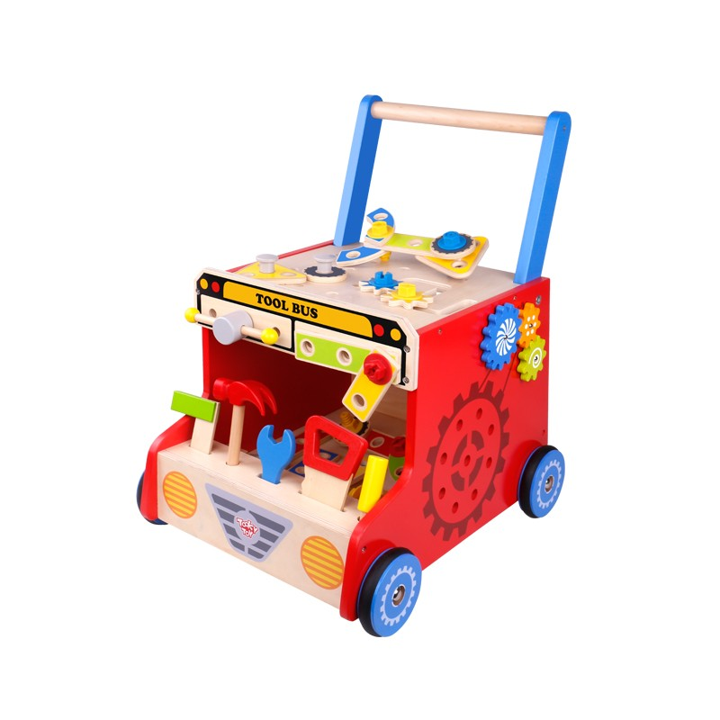 Sturdy Walker Tool Bus - Tooky Toy