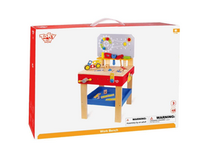 Large Wooden Work Bench - Tooky Toy