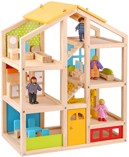 Modern Doll House with Family & Furniture - Tooky Toy