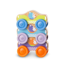 Load image into Gallery viewer, Wooden Stacking Cars - Melissa & Doug