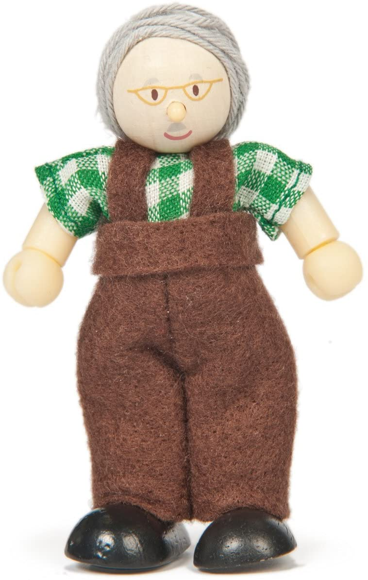 Wooden Grandpa Doll - Budkins - Le Toy Van
