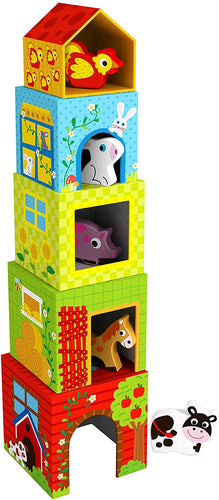 Wooden Nesting Boxes - Farm - Tooky Toy