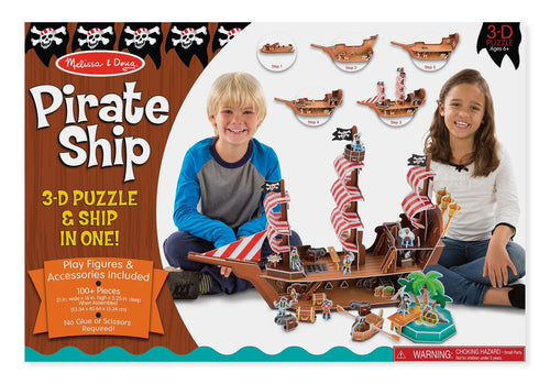 Pirate Ship 3D Puzzle - Melissa & Doug