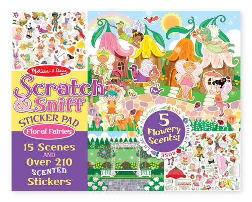 Scratch & Sniff Sticker Pad- Floral Fairies - Melissa & Doug