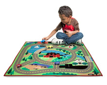 Load image into Gallery viewer, Round the Town Road Rug & Car Set - Melissa & Doug