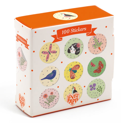 100 Chichi Stickers (glitter) - Djeco