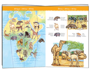 World's Animals Puzzle + Booklet - Djeco
