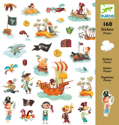 Pirate Stickers (160 pc) - Djeco