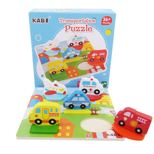 Wooden 3D Puzzle - Transportation