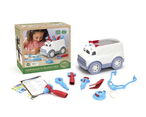 Ambulance & Doctor's Kit - Green Toys (100% Recycled Plastic)