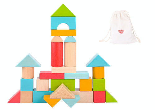 Jumbo Colourful Wooden Blocks - 28 pc - Tooky Toy
