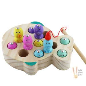 Magnetic Wooden Fishing