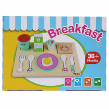Load image into Gallery viewer, Wooden Breakfast Set