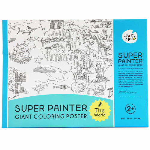 Giant Colouring Poster - World Map