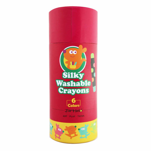 Silky Washable Crayons - 6 Colours - Jar Melo