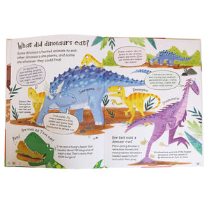 Curious Questions & Answers about Dinosaurs - Hard Cover