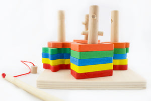 Wooden Shape Stacker