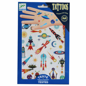 Space Oddity (glow in the dark) Tattoos - Djeco
