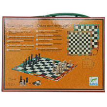 Load image into Gallery viewer, Classic Chess & Draughts Case - Djeco
