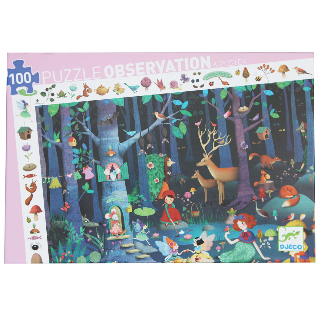 Enchanted Forest Puzzle - Djeco - 100 pc