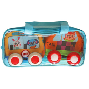 Fabric Pull-Back Cars - Bunny, Ellie & Fox