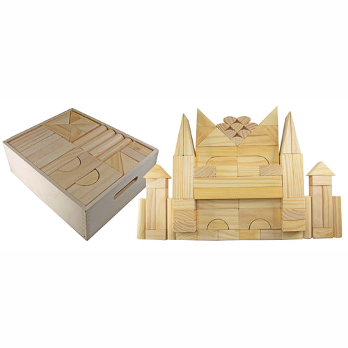 Natural Wooden Block Set - Jumbo - (64 pc)