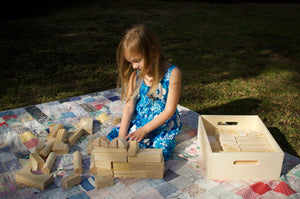 Natural Wooden Block Set (64 pc)