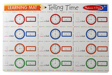 Load image into Gallery viewer, Telling Time Write-A-Mat - Melissa & Doug