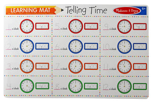 Telling Time Write-A-Mat - Melissa & Doug