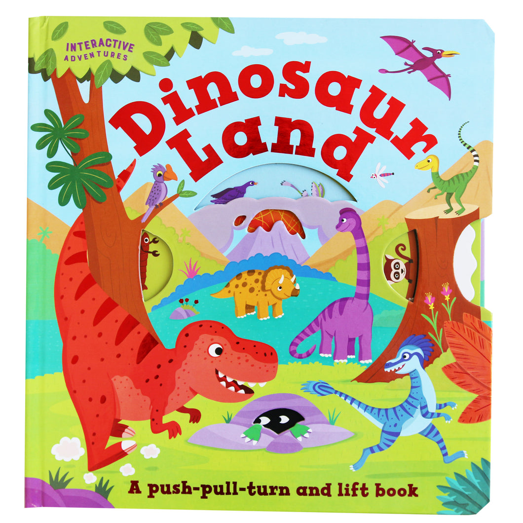 Dinosaur World - A Push-Pull-Turn & Lift Book (Hardcover)