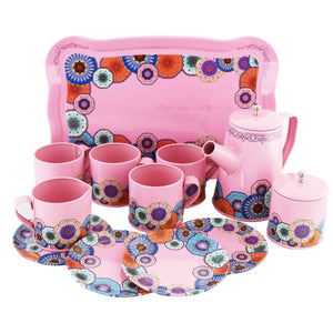 Tin Tea Set - Floral