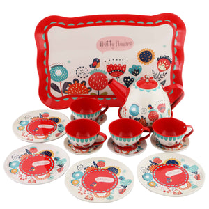 Tin Tea Set - Garden Party