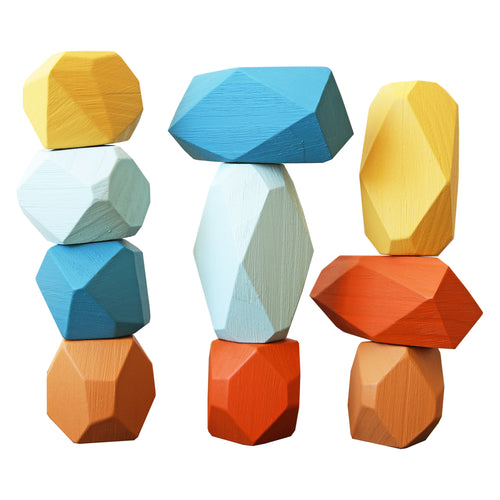 Gem Blocks - Blue & Mustard
