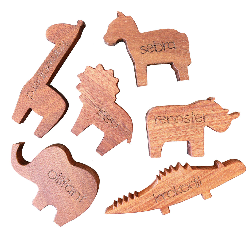 Wooden African Animals - Afrikaans