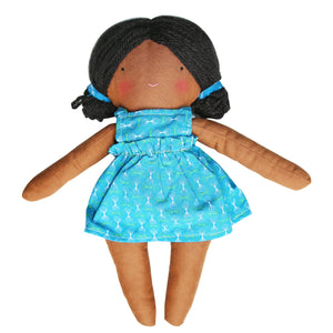 Little Heirloom Doll - Blue ShweShwe