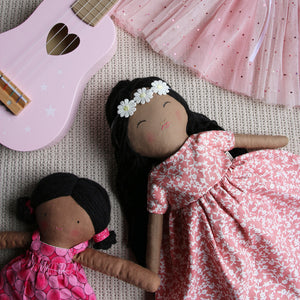 Flower Child Heirloom Doll - Cocoa Bean - Includes Extra Dress
