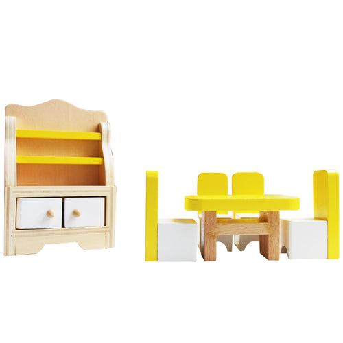 Wooden Doll Furniture - Dining Room - Tooky Toy