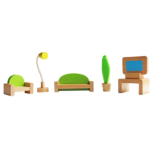Wooden Doll Furniture - Lounge - Tooky Toy