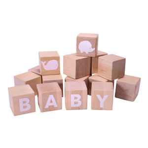 Wooden Alphabet Blocks (White)