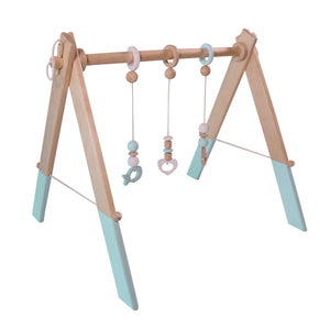 Wooden Baby Gym - Mint