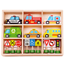 Load image into Gallery viewer, Transportation & Wooden Street Sign Set - Tooky Toy