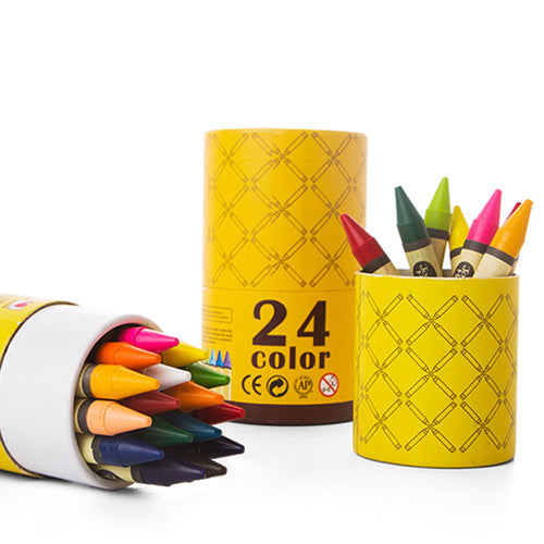 Washable Crayons - 24 Colours - Jar Melo