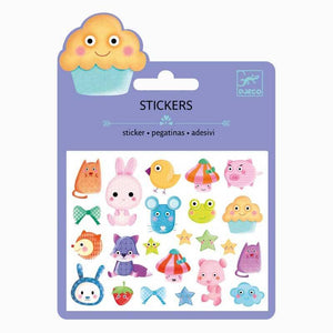 Kawaii Mini Stickers (Puffy) - Djeco
