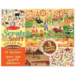 Scratch & Sniff Sticker Pad- Tempting Treats - Melissa & Doug