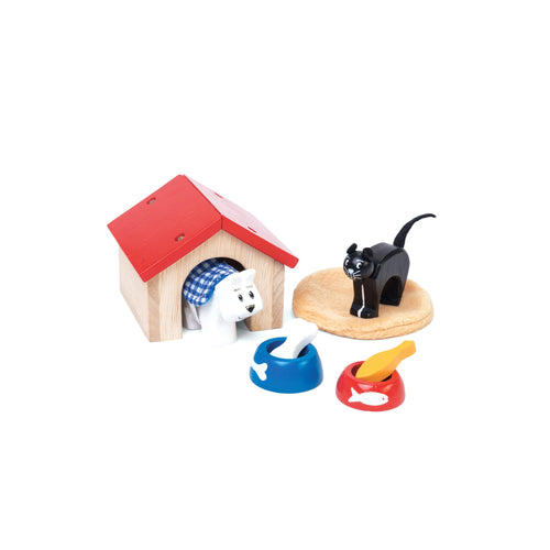 Wooden Pet Set - Dog & Cat - Le Toy Van