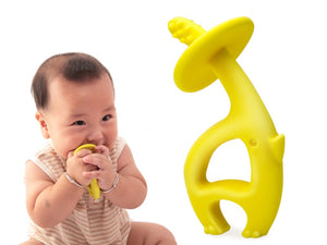 Dancing Elephant Teether Toy - Mombella - Blue