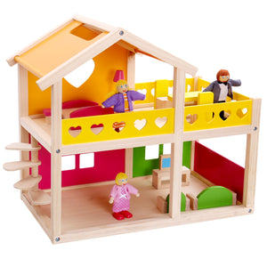 Happy Villa With Dolls & Furniture - Tooky Toy