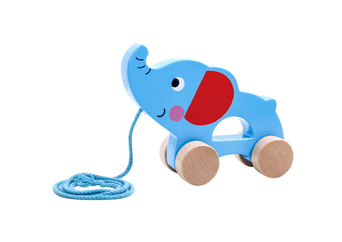 Pull-Along Elephant - Tooky Toy