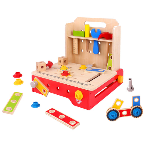 Wooden Foldable Work Bench - Tooky Toy